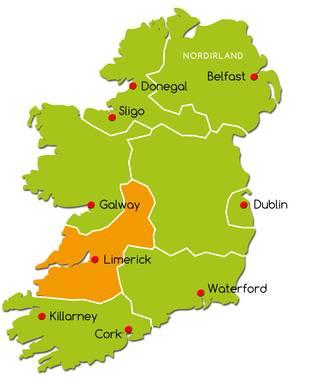 Irland Karte Rundreise.Die Shannon Region Irland Reise Net