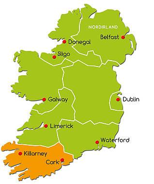 cork karte irland der liebliche Süden : Irland Reise.net